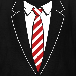 Tuxedo Striped Tie Kids' Shirts - Kids' T-Shirt