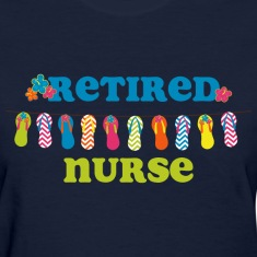 Flip Flops Retired Nurse Women's T-Shirts
