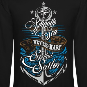 Skilled Sailor Long Sleeve Shirts - Crewneck Sweatshirt