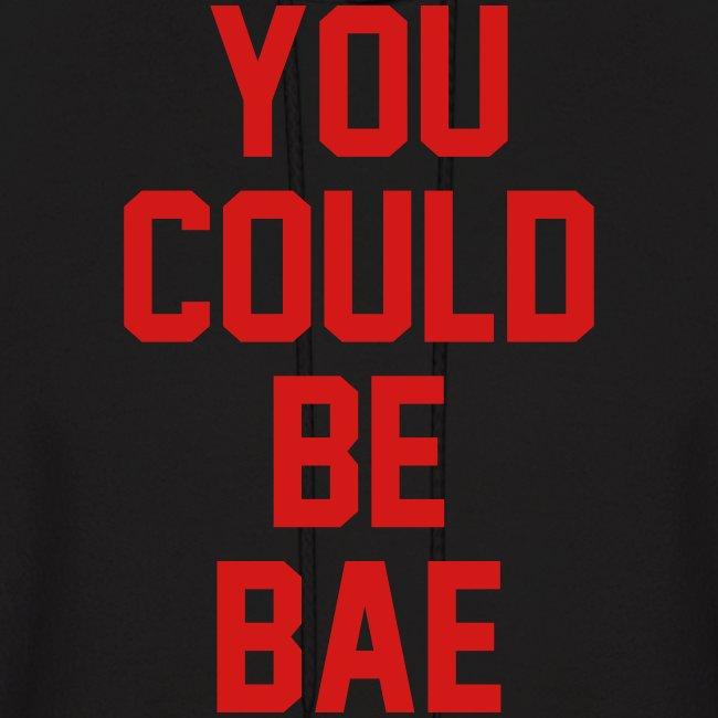 Bae Hoodie Black-Red