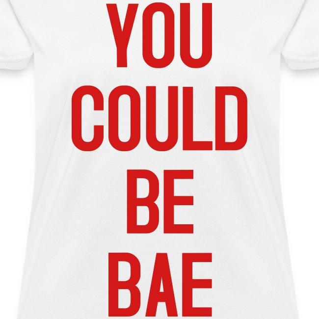 Womens Bae White Red