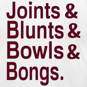 Joints & Blunts & Bowls & Bongs T-Shirts - Men's T-Shirt by American Apparel
