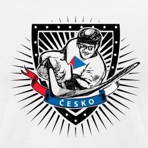 czech republic ice hockey player - Men's T-Shirt by American Apparel