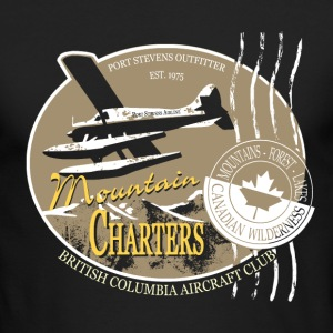 Seaplane - Aircraft - Canada - Mountain Long Sleeve Shirts - Men's Long Sleeve T-Shirt by Next Level