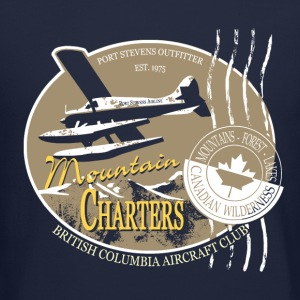 Seaplane - Aircraft - Canada - Mountain Long Sleeve Shirts - Crewneck Sweatshirt