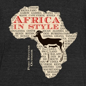Antelope  - Africa - Safari T-Shirts - Unisex Tri-Blend T-Shirt by American Apparel