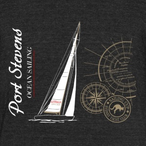 Sailing - Maritime - Yacht T-Shirts - Unisex Tri-Blend T-Shirt by American Apparel