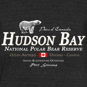 Polar Bear - Bear - Hudson Bay - Canada T-Shirts - Unisex Tri-Blend T-Shirt by American Apparel