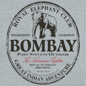 Elephant - Asia - India - Safari T-Shirts - Unisex Tri-Blend T-Shirt by American Apparel