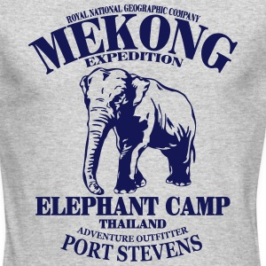 Elephant - Asia - Thailand - Safari Long Sleeve Shirts - Men's Long Sleeve T-Shirt by Next Level
