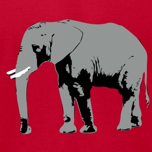 Elephant - Africa - Safari T-Shirts - Men's T-Shirt by American Apparel