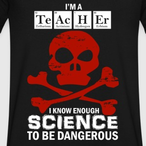 Science and Chemistry Teacher T-Shirts - Men's V-Neck T-Shirt by Canvas