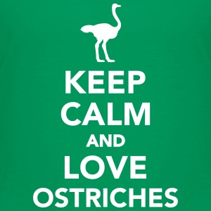 Keep calm and love Ostriches Kids' Shirts - Kids' Premium T-Shirt