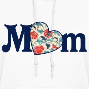 Mom Retro Heart - Women's Hoodie