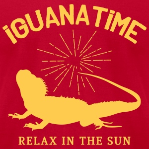 Iguana Time T-Shirts - Men's T-Shirt by American Apparel