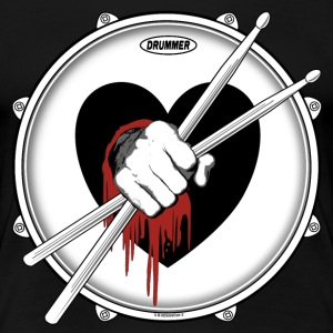 Drummer Sticks In Bleeding Heart. - Women's Premium T-Shirt