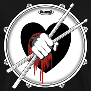 Drummer Sticks In Bleeding Heart. - Men's Premium T-Shirt