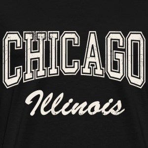 Chicago-Illinois-light-vi T-Shirts - Men's Premium T-Shirt