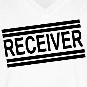 RECEIVER - Men's V-Neck T-Shirt by Canvas