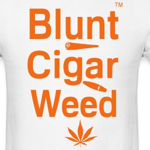 Blunt Cigar & Weed - Men's T-Shirt