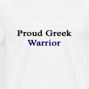 proud_greek_warrior T-Shirts - Men's Premium T-Shirt
