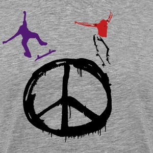 Skate for Peace & Longboard for Peace T-Shirts - Men's Premium T-Shirt