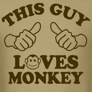 This Guy Loves Monkey T-Shirts - Men's T-Shirt