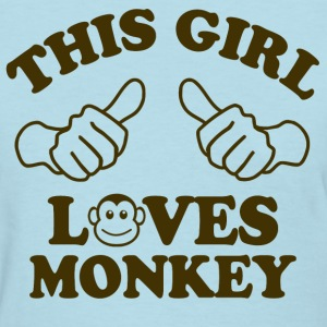 This Girl Loves Monkey Women's T-Shirts - Women's T-Shirt