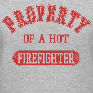 Property of a Firefigter Women's T-Shirts - Women's V-Neck T-Shirt