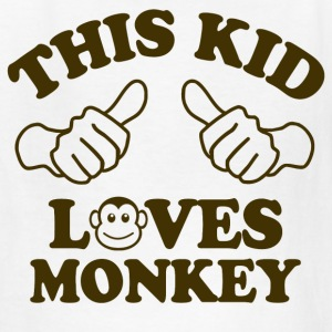 This Kid Loves Monkey Kids' Shirts - Kids' T-Shirt