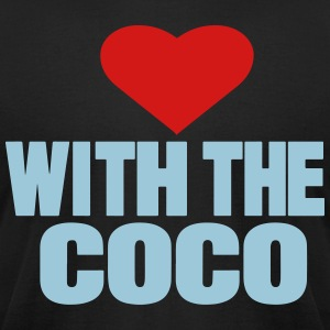 LOVE WITH THE COCO - Men's T-Shirt by American Apparel