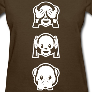 emoticon Monkeys invert Women's T-Shirts - Women's T-Shirt