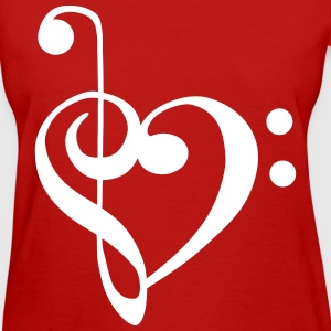 Sheet Music Heart Notes - Women's T-Shirt