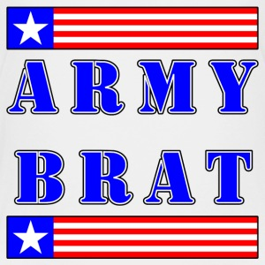 Army Brat - Blue Text. - Kids' Premium T-Shirt