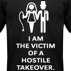 Victim Of Hostile Takeover (Bachelor Party, Groom) T-Shirts - Men's T-Shirt by American Apparel