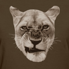 Annoyed Snarling Lion Cat Women's T-Shirts