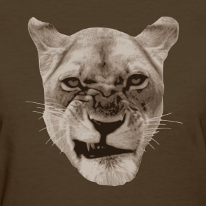 Annoyed Snarling Lion Cat Women's T-Shirts - Women's T-Shirt