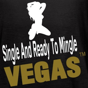 SINGLE AND READY TO MINGLE VEGAS - Women's Flowy Tank Top by Bella