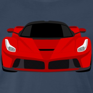 Red Ferrari LaFerrari - Simple Flat Art T-Shirt - Men's Premium T-Shirt
