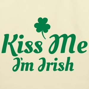 kiss me i'm irish excellent Bags & backpacks - Eco-Friendly Cotton Tote
