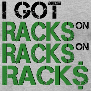 racks, hiphop, music, Rap - Men's T-Shirt by American Apparel