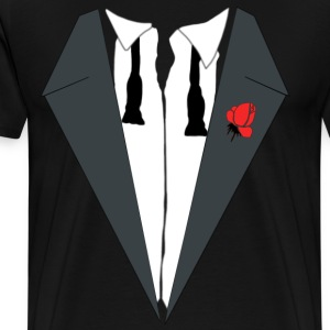 TUXEDO SHIRT, wedding, bachelor, bachelorette, smo - Men's Premium T-Shirt