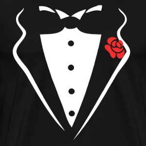 TUXEDO SMOKING SHIRT - Men's Premium T-Shirt