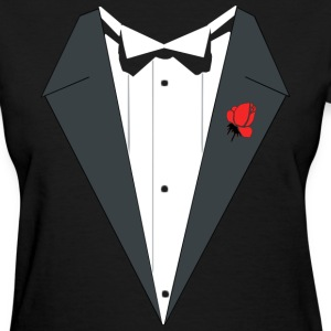 TUXEDO SHIRT, wedding, bachelor, bachelorette, smo - Women's T-Shirt