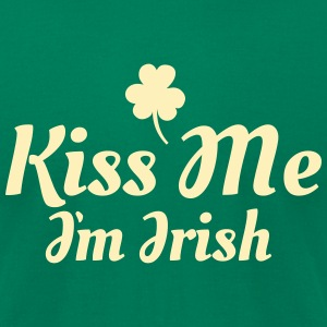 kiss me i'm irish excellent T-shirts - T-shirt pour hommes American Apparel