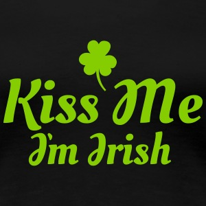 kiss me i'm irish excellent Women's T-Shirts - Women's Premium T-Shirt