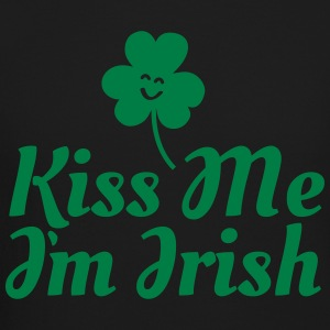 kiss me i'm irish fancy / clover / shamrock Long Sleeve Shirts - Crewneck Sweatshirt