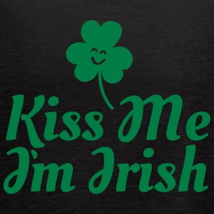 kiss me i'm irish fancy / clover / shamrock Tanks - Women's Flowy Tank Top by Bella