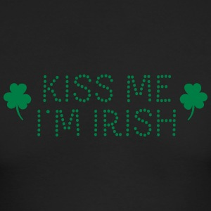 kiss me i'm irish dotted T-shirts (manches longues) - T-shirt manches longues pour hommes Next Level