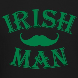 irish man / irish man mustache Long Sleeve Shirts - Crewneck Sweatshirt